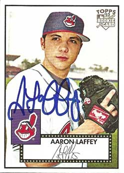 Signed Aaron Laffey baseball card from my collection