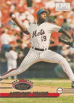 1993 Topps Stadium Club Anthony Young First Day Production