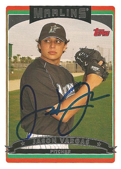 Signed Jason Vargas 2006 Topps baseball card from my collection
