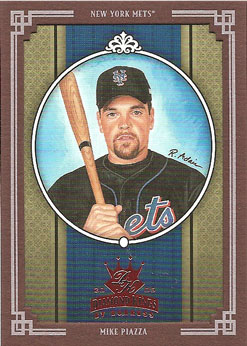 Mike Piazza's 2005 Donruss Diamond King baseball card from my collection