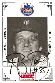 1991 Wiz Mets Randy Jones