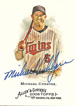 Signed Michael Cuddyer 2008 Allen & Ginter baseball card from my collection