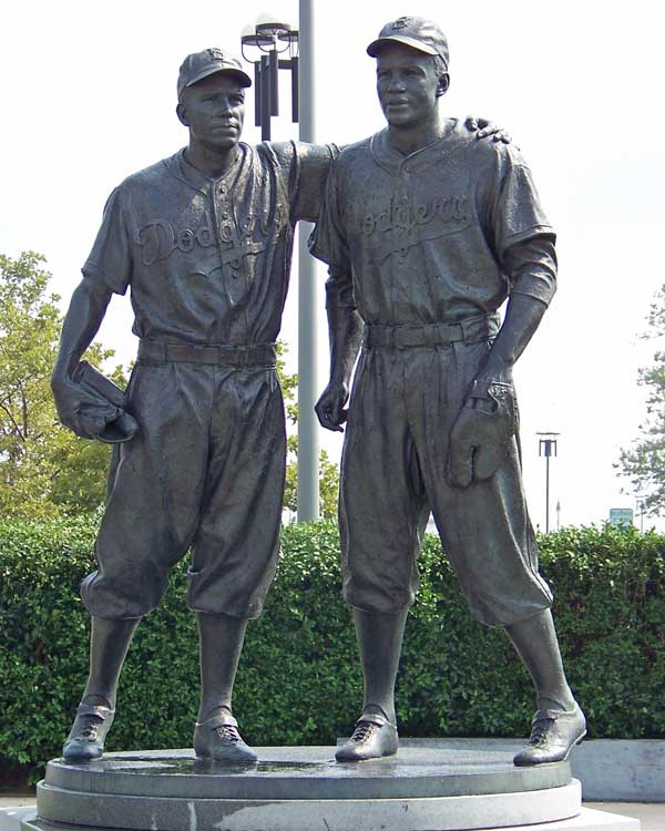 Image result for jackie robinson pee wee reese memorial statue