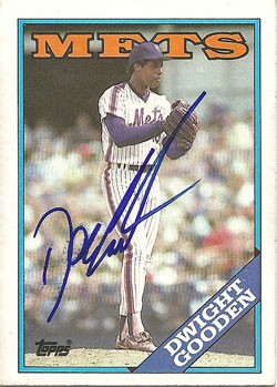 Autographed 1988 Topps Dwight Gooden card from my collection