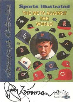 Signed Jerry Koosman baseball card from my collection