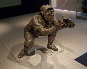 Yogi Berra statue on display at Yankee Stadium (photo credit: Paul Hadsall)