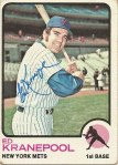 Autographed Ed Kranepool 1973 Topps baseball card from my collection