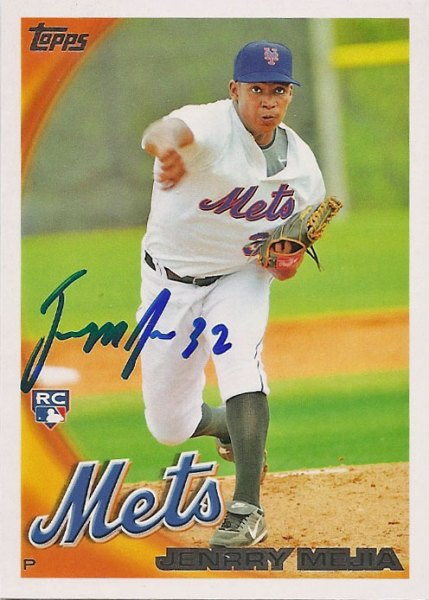 Autographed 2010 Topps Jennry Mejia card from my collection