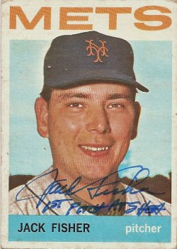 Signed Jack Fisher 1964 Topps baseball card from my collection