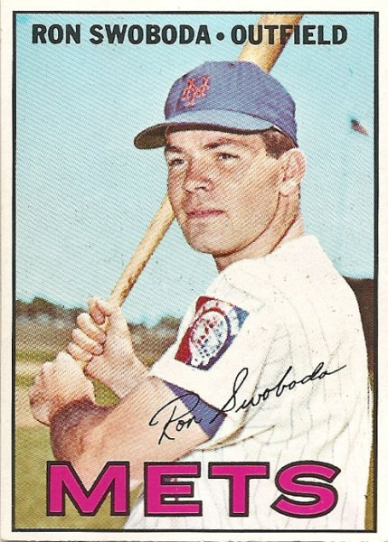Ron Swoboda's 1967 Topps baseball card