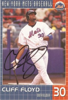 signed Cliff Floyd Mets postcard from my collection
