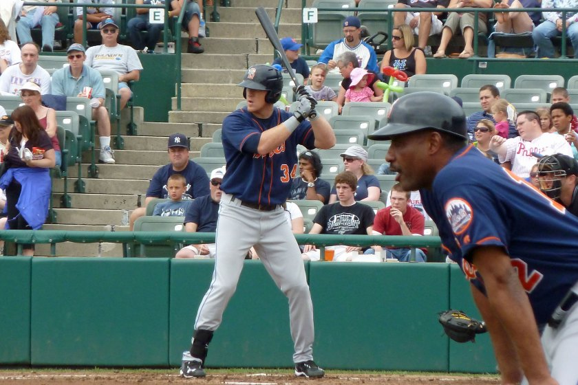 Allan Dykstra plays for the Binghamton Mets in 2011 (Photo credit: Paul Hadsall)