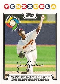 Johan Santana's 2008 Topps World Baseball Classic insert card