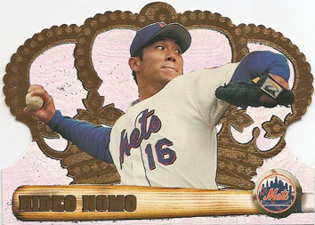 Hideo Nomo's 1998 Pacific Crown Royale baseball card