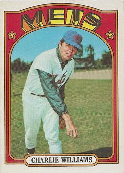 Charlie Williams' 1972 Topps baseball card