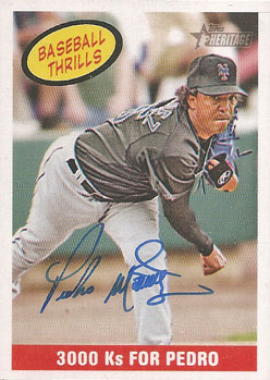 Signed Pedro Martinez 2008 Topps Heritage card from my collection