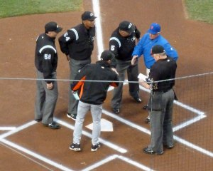 pre-game lineup exchange
