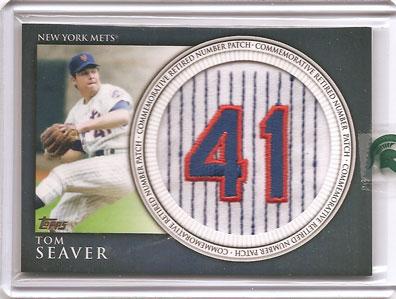 Tom Seaver 2012 Topps Retired Numbers baseball card
