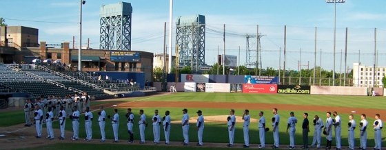 Opening Day 2013 at Bears & Eagles Riverfront Stadium (Photo credit: Paul Hadsall)