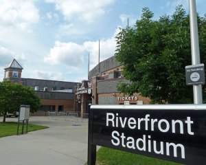 Riverfront Stadium in 2012 (Photo credit: Paul Hadsall)