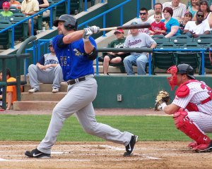 Former Houston Astros outfielder Jason Lane was the Sugarland Skeeters DH