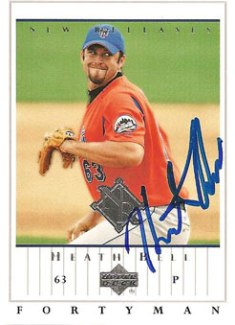 Signed Heath Bell baseball card from my collection