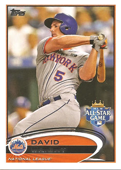David Wright's 2012 Topps Update All-Star card