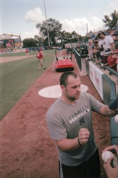 Joba Chamberlain returned to Trenton for a rehab assignment in 2012; this year, the team is giving away a Joba Chamberlain bobblehead on August 23rd (Photo credit: Bart Miller)
