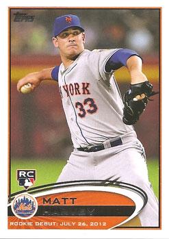 Matt Harvey's 2012 Topps Update Rookie Debut baseball card