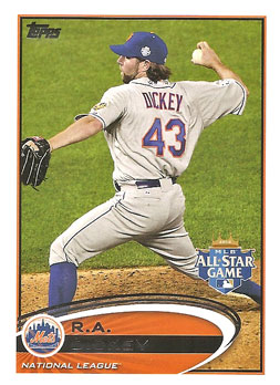 R.A. Dickey's 2012 Topps Update All-Star card