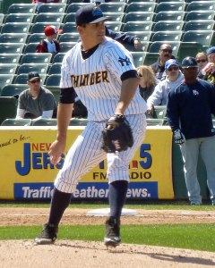 The New York Yankees added 2012 Trenton Thunder pitcher Brett Marshall to their 40-man roster today (Photo credit: Paul Hadsall)