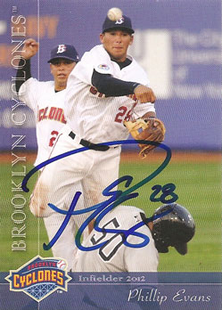 autographed Phillip Evans 2012 Brooklyn Cyclones card from my collection