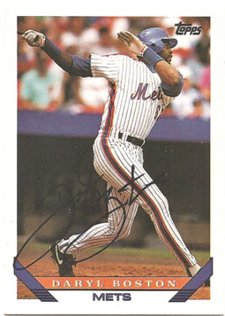 Signed Daryl Boston 1993 Topps baseball card from my collection