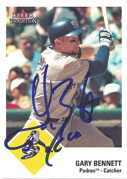 Signed Gary Bennett 2003 Fleer Tradition Update baseball card from my collection