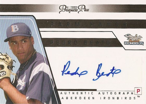 Pedro Beato's 2006 TriStar ProspectsPlus signed baseball card from my collection