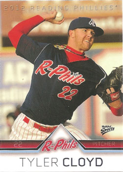 Tyler Cloyd's 2012 Reading Phillies baseball card