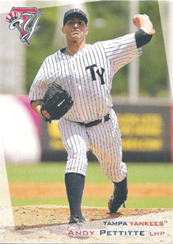 Andy Pettitte's 2012 Tampa Yankees baseball card