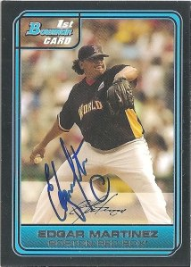 Signed Edgar Martinez 2006 Bowman baseball card