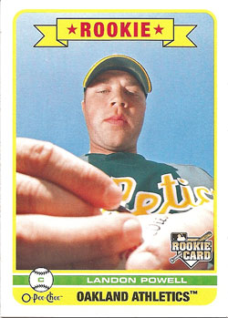 Landon Powell's 2009 O-Pee-Chee baseball card
