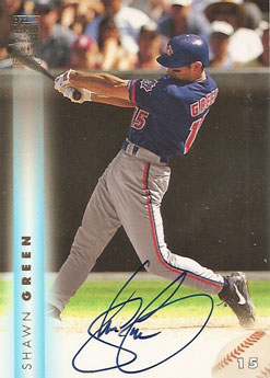 Shawn Green 1999 Topps autograph insert card