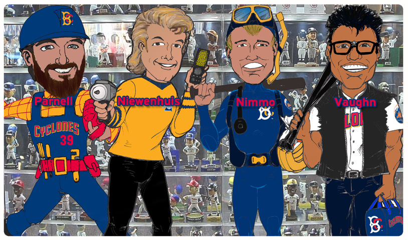 "Concept artwork for the ""Cyclones at the Movies"" bobbleheads, taken from the Brooklyn Cyclones website"