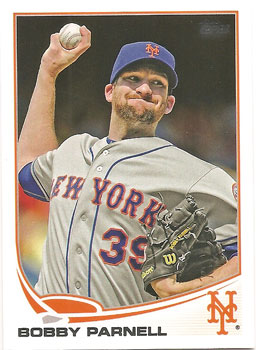 Bobby Parnell's 2013 Topps baseball card