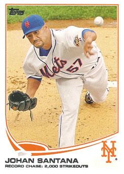 Johan Santana's 2013 Topps Series 1 baseball card