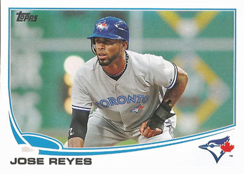 Jose Reyes' 2013 Topps baseball card