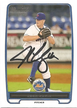 signed Josh Edgin 2012 Bowman baseball card from my collection