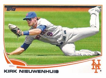 Kirk Nieuwenhuis' 2013 Topps baseball card