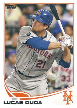 Lucas Duda's 2013 Topps baseball card