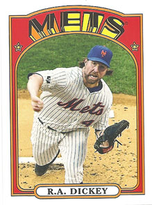 R.A. Dickey's 1972-style mini card insert