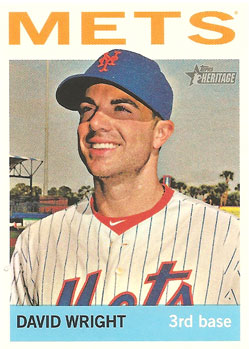 David Wright's 2013 Topps Heritage baseball card