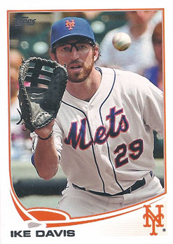 Ike Davis' 2013 Topps baseball card